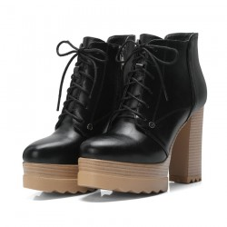 Fashione Shanone - Lace up shoes with wooden heels