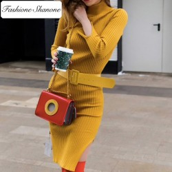 Fashione Shanone - Sweater dress with belt