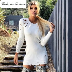 Fashione Shanone - Sweater dress with holes