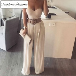 Fashione Shanone - High waist pleated trousers