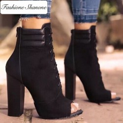 Fashione Shanone - Bottines à lacet peep toe