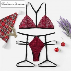 Fashione Shanone - Thong with suspender and bra set