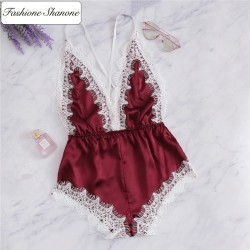 Fashione Shanone - Satin and lace playsuit