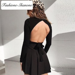 Fashione Shanone - Crop top with open back