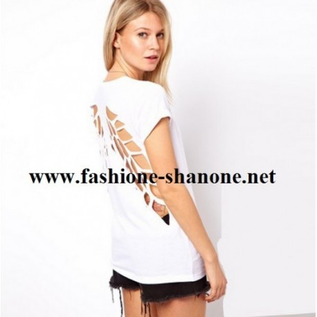 T-shirt blanc ailes d'ange