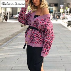Fashione Shanone - Cardigan with little hearts