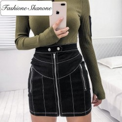Fashione Shanone - Black skirt with zipper