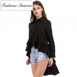 Fashione Shanone - Blouse HIGH LOW à froufrou