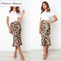Fashione Shanone - Leopard mid length skirt