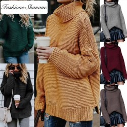 Fashione Shanone - Pull large col roulé