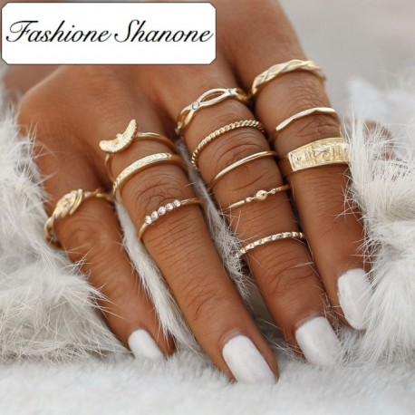 Fashione Shanone - Ensemble de 12 bagues aigles