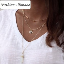 Fashione Shanone - 3 necklaces in 1 evil eye