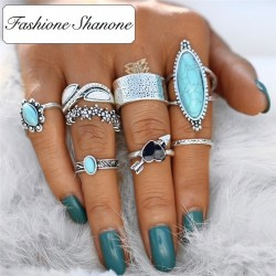 Fashione Shanone - Antique boho rings set