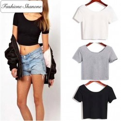 Fashione Shanone - Limited stock - Plain crop top