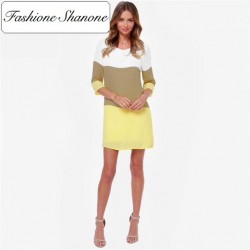 Fashione Shanone - Limited stock - Tricolor loose dress