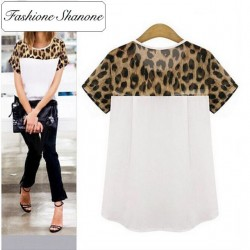 Fashione Shanone - Limited stock - Leopard short sleeves blouse
