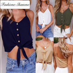 Fashione Shanone - Limited stock - Buttoned crop top