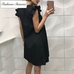 Fashione Shanone - Limited stock - fluid dress with ruffle sleeves