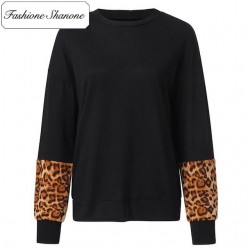 Fashione Shanone - Limited stock - Black and leopard sweatshirt