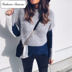 Fashione Shanone - Limited stock - Tricolor sweater with high neck