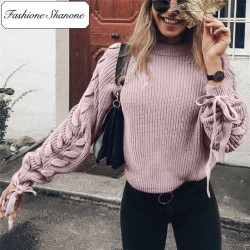 Fashione Shanone - Limited stock - Sweater with lace up sleeves