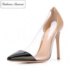 Limited stock - Transparent and patent leather pumps