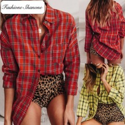 Fashione Shanone - Limited stock - Long plaid shirt