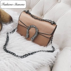 Fashione Shanone - Limited stock - Leather bag with chain strap shoulder