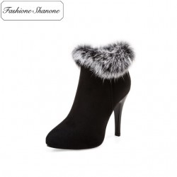 Fashione Shanone - Limited stock - Ankle boots with fur