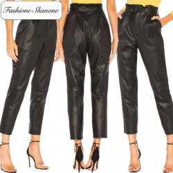 Fashione Shanone - Limited stock - Leather carrot pants