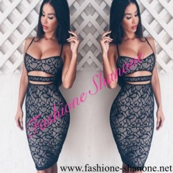 305 - Hollow out lace dress