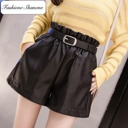 Fashione Shanone - Limited stock - High waist leather shorts
