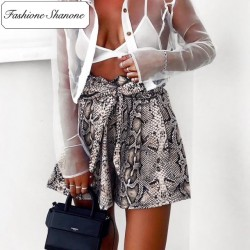 Fashione Shanone - Limited stock - Snake high waist shorts