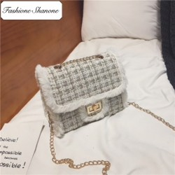 Fashione Shanone - Limited stock - Tweed wool shoulder bag