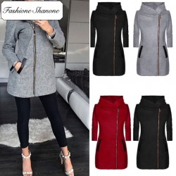 Fashione Shanone - Limited stock - Long hooded jacket with zipper