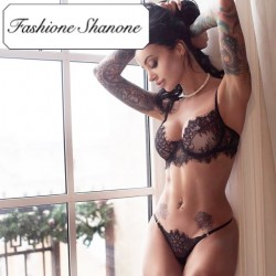 Fashione Shanone - Limited stock - Eyelashes lace lingerie set