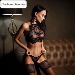 Fashione Shanone - Limited stock - High neck lace lingerie set