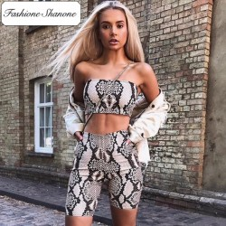 Fashione Shanone - Limited stock - Snake bandeau and cycling shorts set