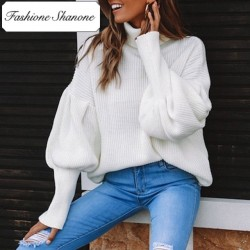Fashione Shanone - Limited stock - White sweater with flared sleeves