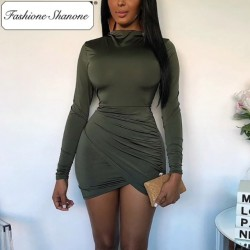 Fashione Shanone - Limited stock - High neck bodycon dress