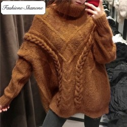 Fashione Shanone - Limited stock - Camel turtleneck sweater