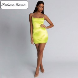 Fashione Shanone - Limited stock - Satin dress with rhinestone straps