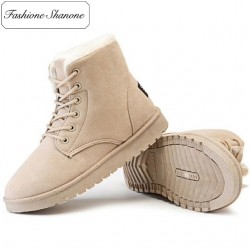 Fashione Shanone - Limited stock - Lace up fur lined ankle boots