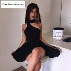 Fashione Shanone - Limited stock - Asymmetric choker dress