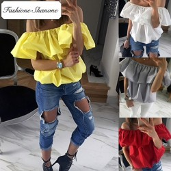 Fashione Shanone - Limited stock - Off shoulder blouse