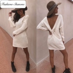 Fashione Shanone - Limited stock - Backless sweater dress