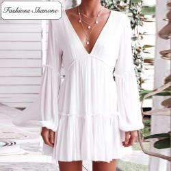 Fashione Shanone - Limited stock - Boho white dress