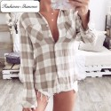 Limited stock - Beige plaid shirt