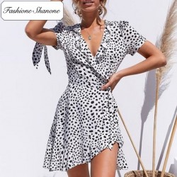 Fashione Shanone - Limited stock - Polka dot wrap dress