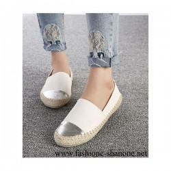 305 - White and silver espadrilles
